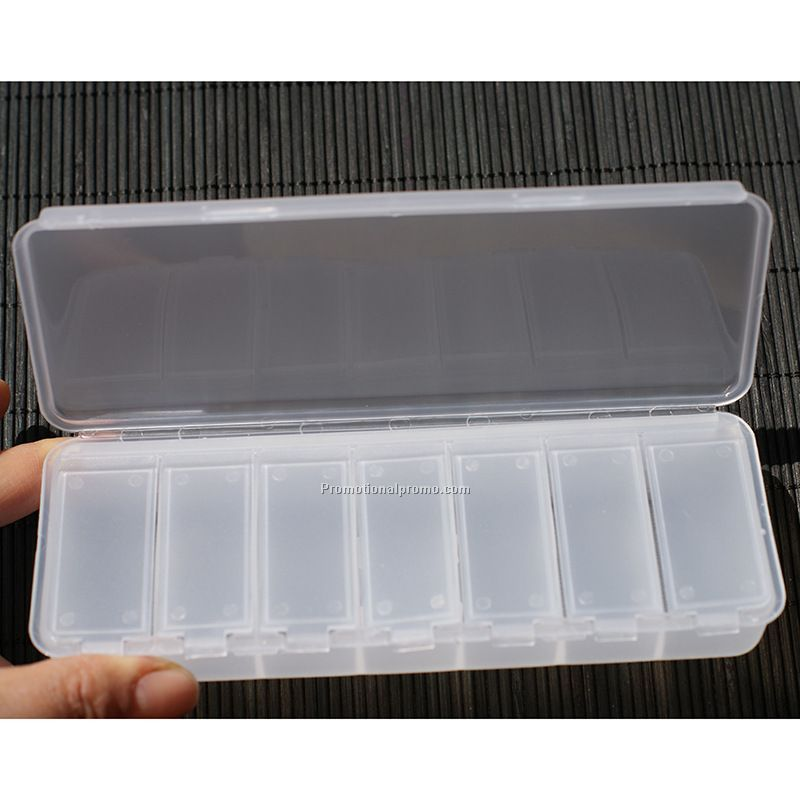 Plastic 7 days pill box top wholesale logo product