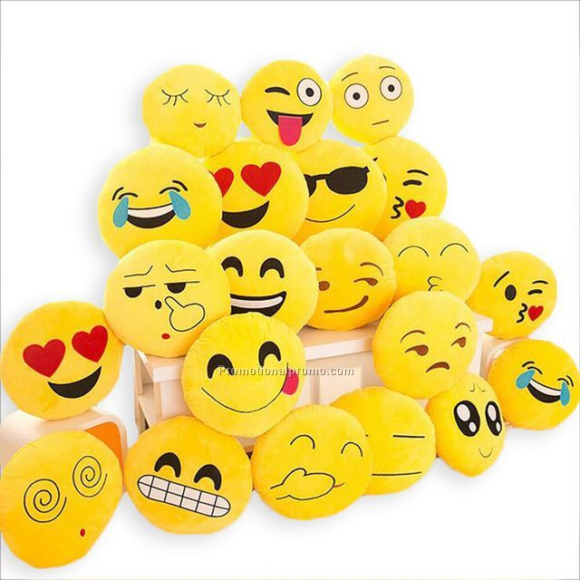 32cmx32cm Cute Emoji Cushion Home Smiley Face Pillow Stuffed Soft