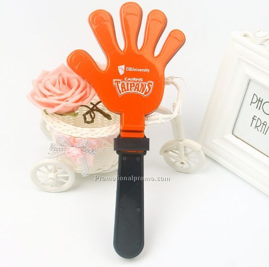 PP hand clappers with custom logo on one side or both side