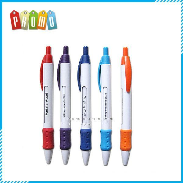 Plastic Bic Wide Body Retractable Window Message Pen Ballpoint Pen