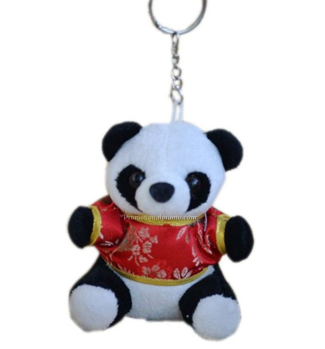 Plush key ring with the shirt on it