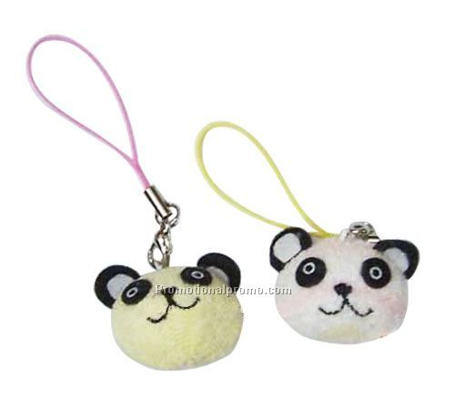 Cell phone plush keychain strap