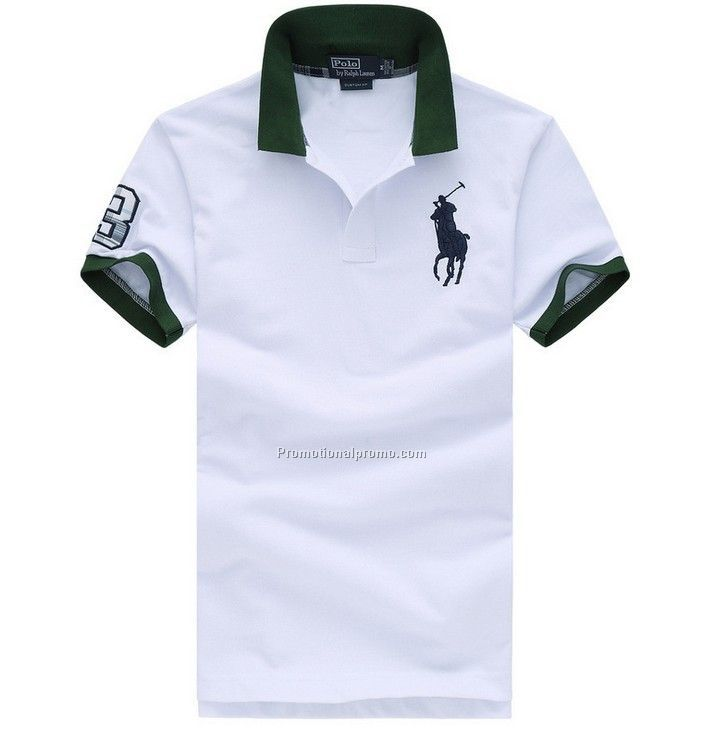 white color polo shirt