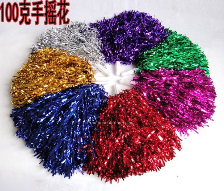 Advertising Polyethylene Metallic Membrane Pom Poms