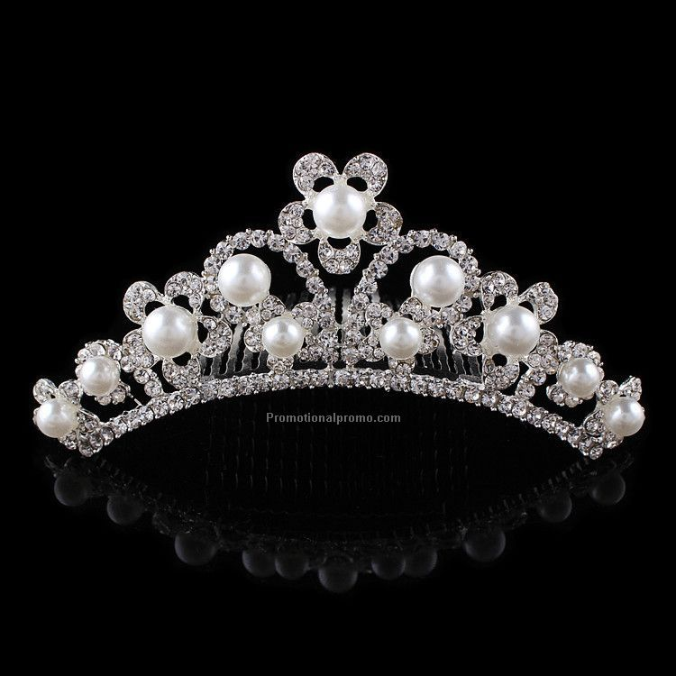 Hot Sale Pearls Tiaras Comb for promotional gifts