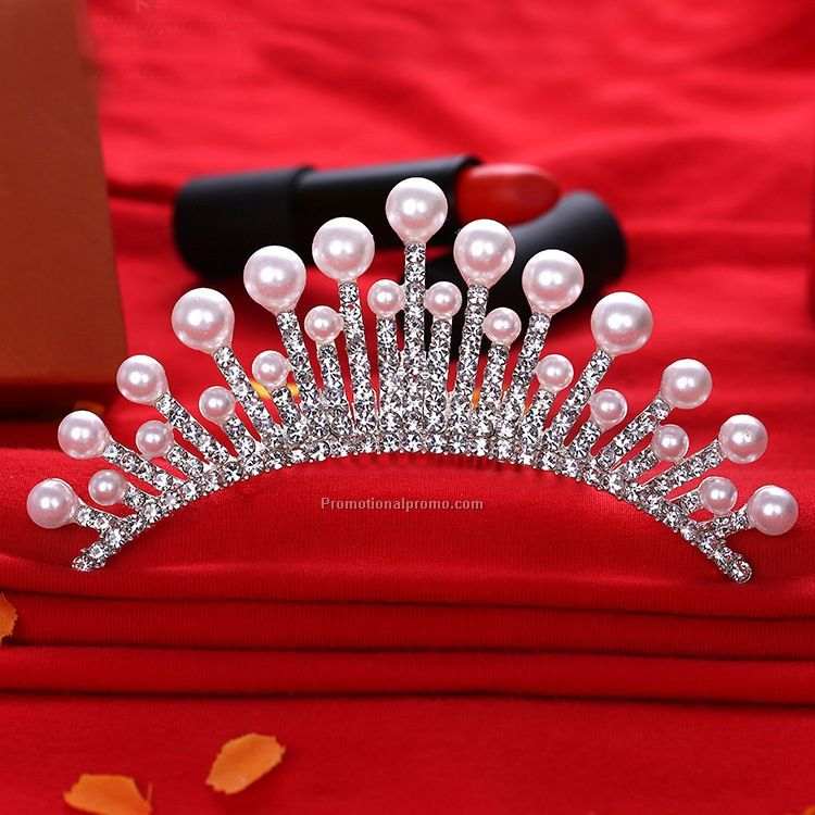 Promotional Pearls Tiaras Comb