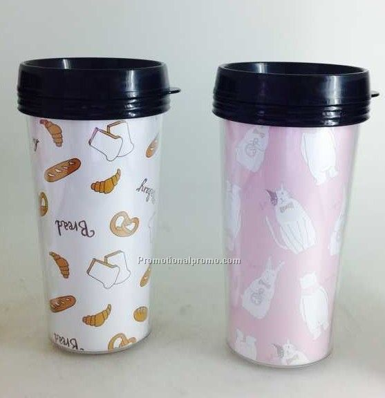 450ml Double wall plastic thermos