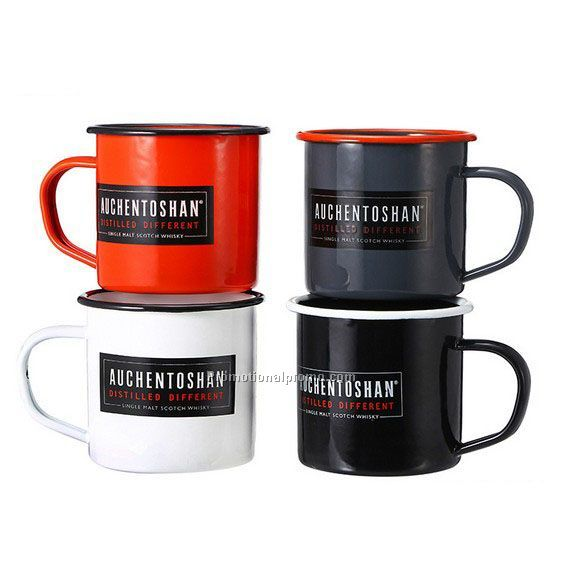 Customized enamel mug 8*8