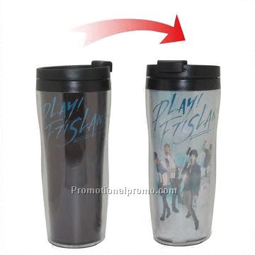 Promotional Changeable Design Double Wall Plastic Thermo Mug