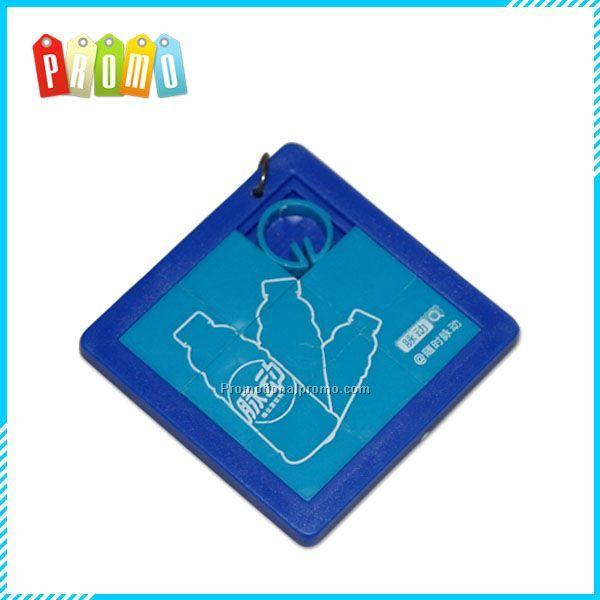 Cutomzied Plastic Mini Promotion Sliding Puzzle Keychain