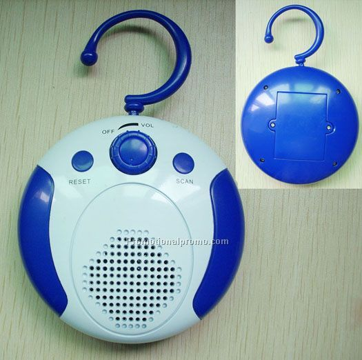 Hanging shower radio