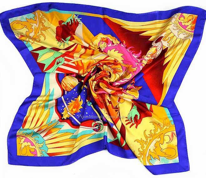 Customized square scarf, Satin square scarf, Silk squae scarf