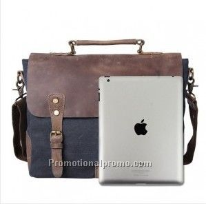 Leather Messenger Laptop Briefcase Shoulder Bag
