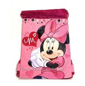 Pink Minnie Mouse Drawstring Backpack