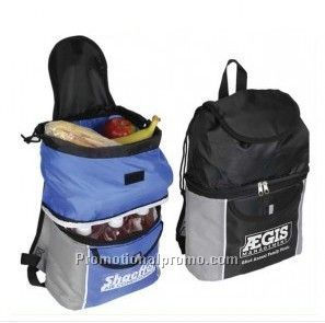 Wholesale custom cooler backpack with bottom compartment