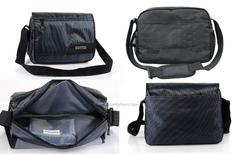 Black polyester messenger bag, Shoulder bag