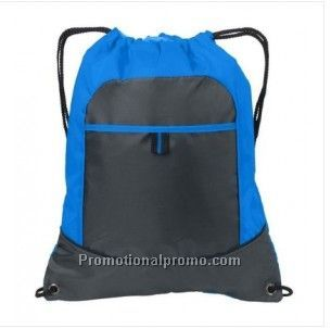 All-Purpose Pocket Cinch Drawstring Gym Bag