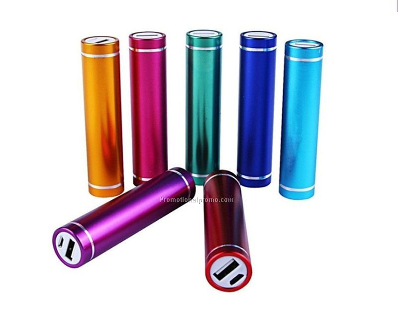 Round tube Metal Mobile Powerbank