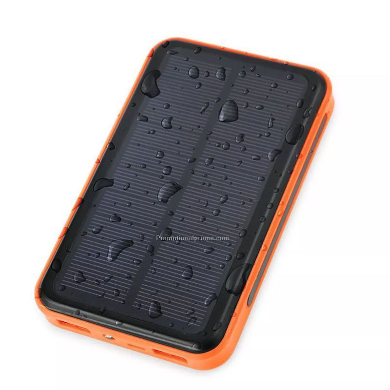 10000mAh waterproof solar power bank