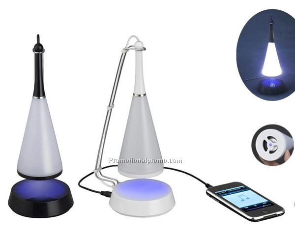 Multi-function 2 in 1 Touch Senor LED Lamp Desktop Mini Speaker Night Illumination Wireless Bluetooth LED Lamp Speaker