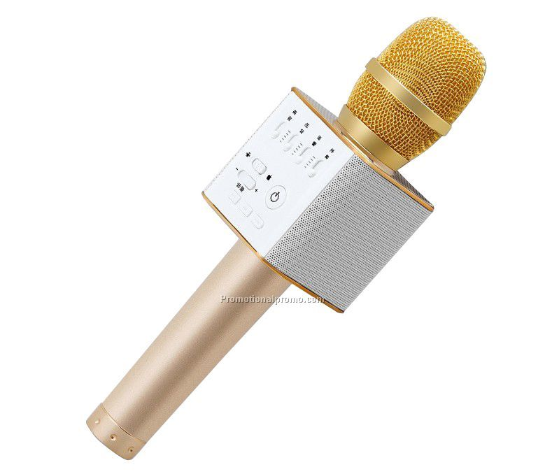 Portable bluetooth karaoke microphone for mobile phone , Bluetooth speaker