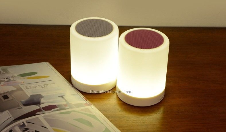 Popular music mini bluetooth speaker With Touch LED Table Lamp