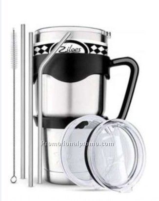 Stainless Steel Cup with Straw Sets