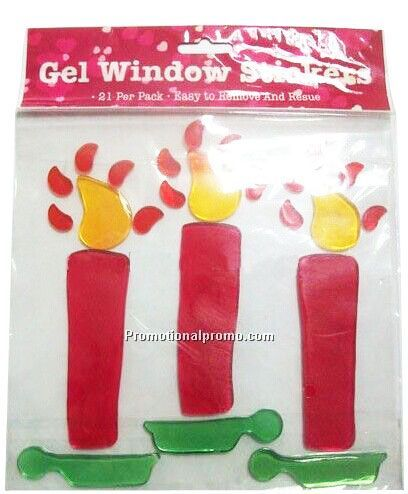 Promotional Gel Window Sticker for Christmas_Candles