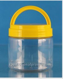 multifuctional PET plastic can/jar with handle,mason jar with handles