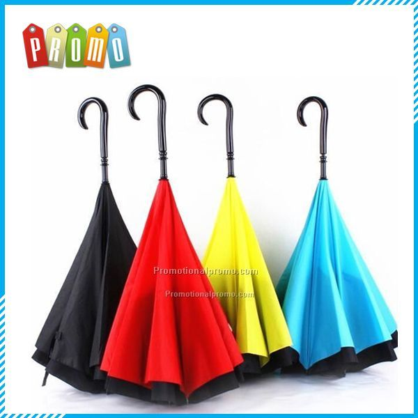 Novelty Double Layered Design Reverse Umbrella