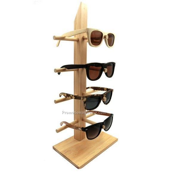 Wood sunglass stand
