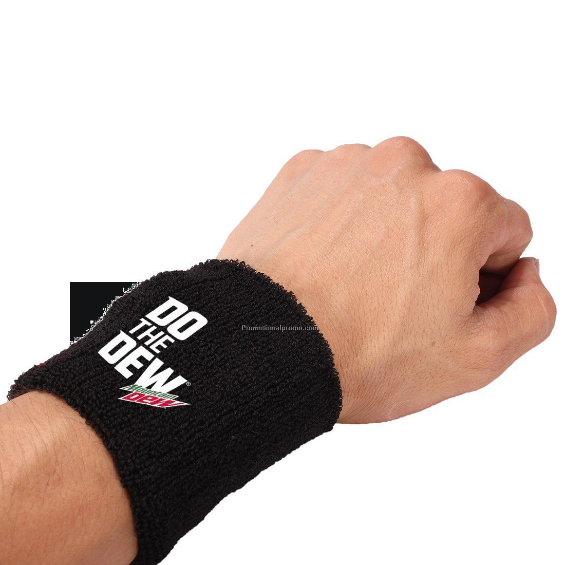 Promotional Cotton sweatband with embroidered logo