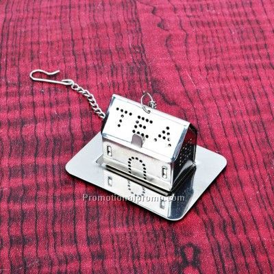 Stainless Steel House Shape Tea Infuser With Plate