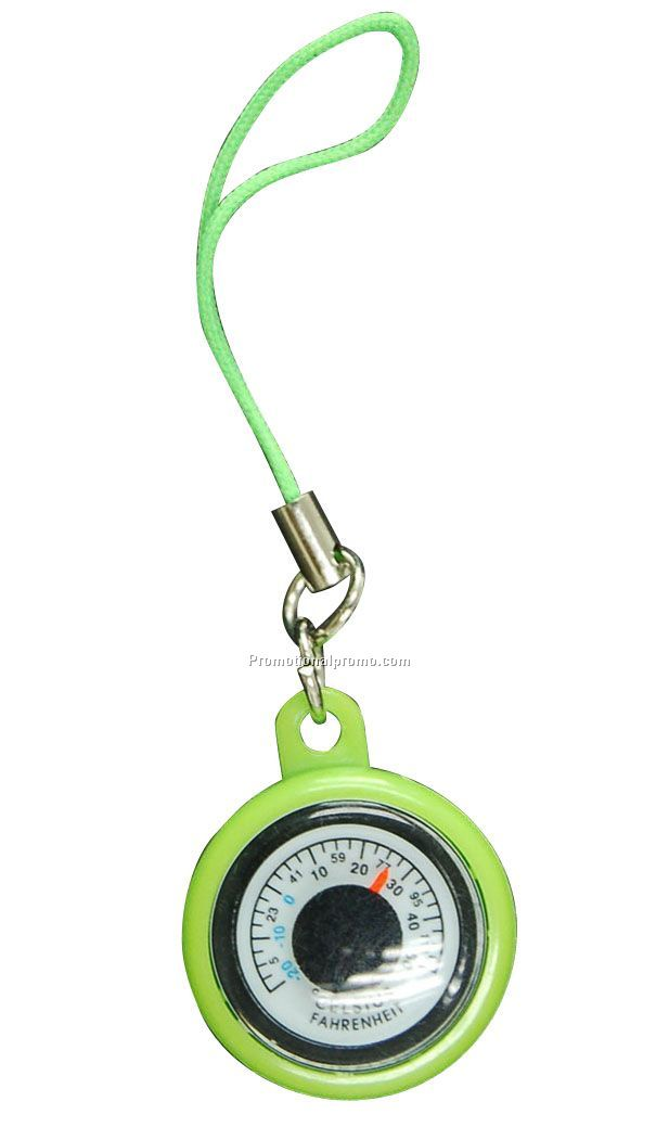 Thermometer keychain