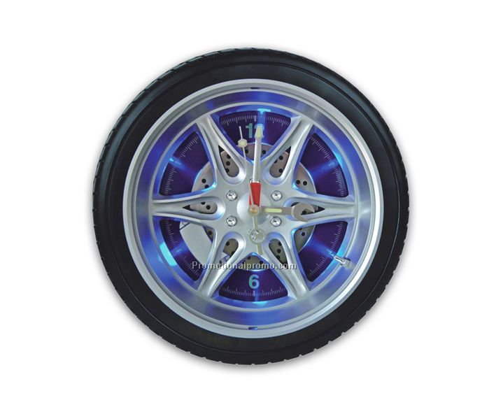 With light Tire clock