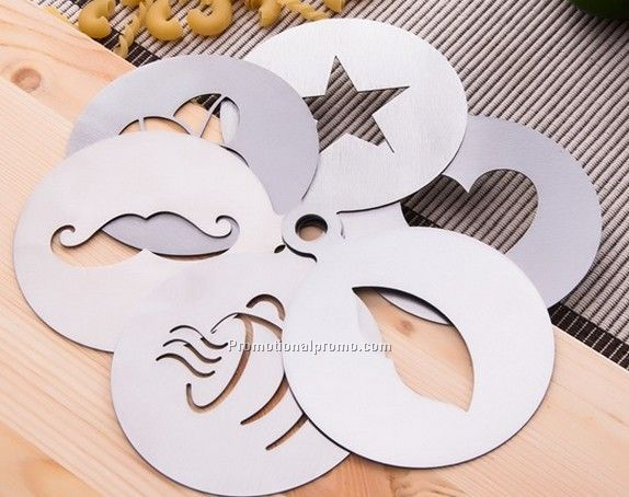 Customized Stainless Steel Coffee Stencil