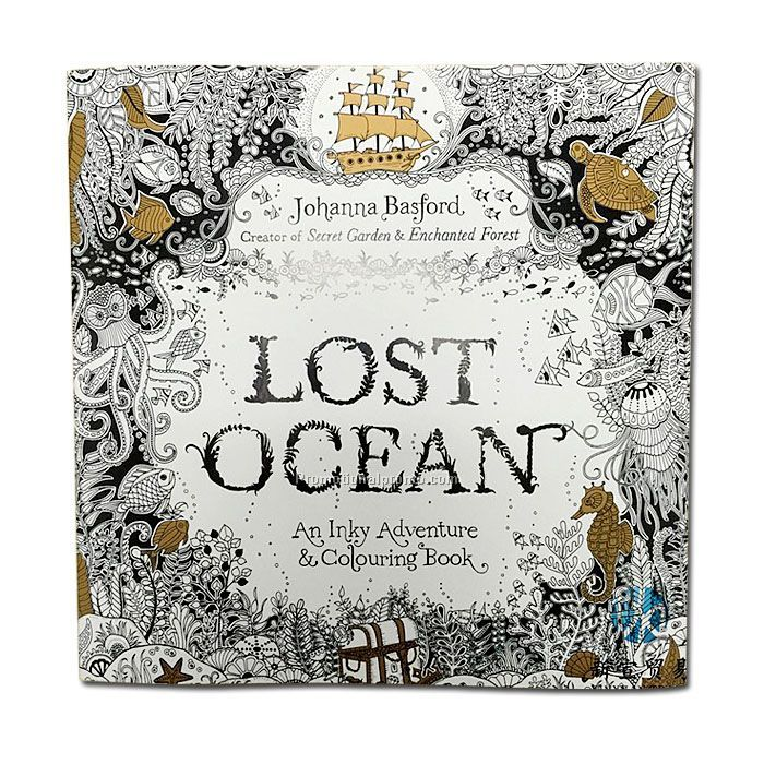 Lost ocean adult coloring book china wholesale Coloring books for adults wholesale