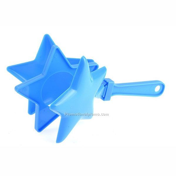 OEM logo party plastic toys star hand clapper