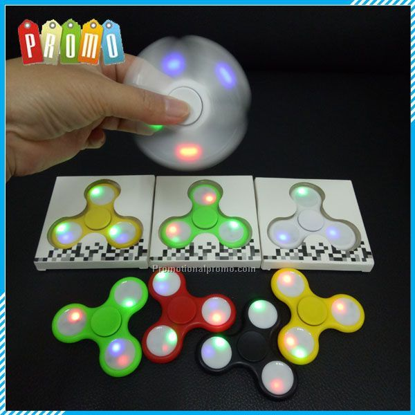 New Color changing Fidget Hand Spinner With LED light