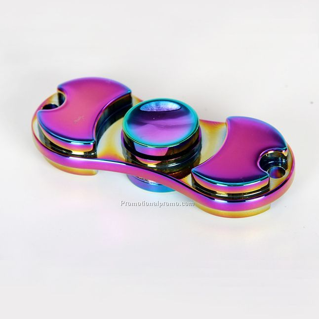 Newly Rainbow color zinc alloy hand fidget spinner toy for anti stress