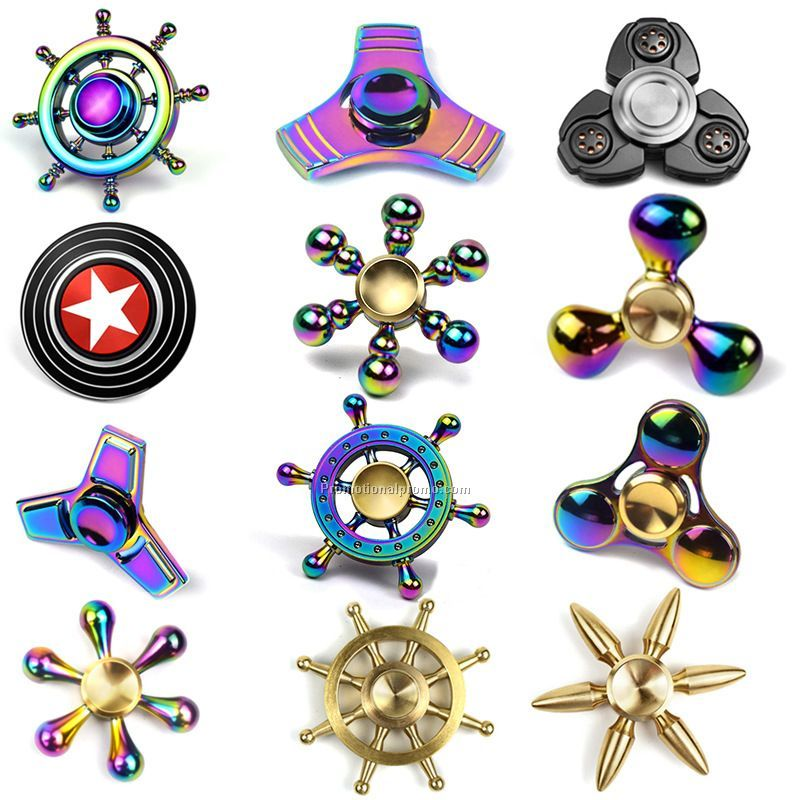Wholesale stocked metal hand spinner