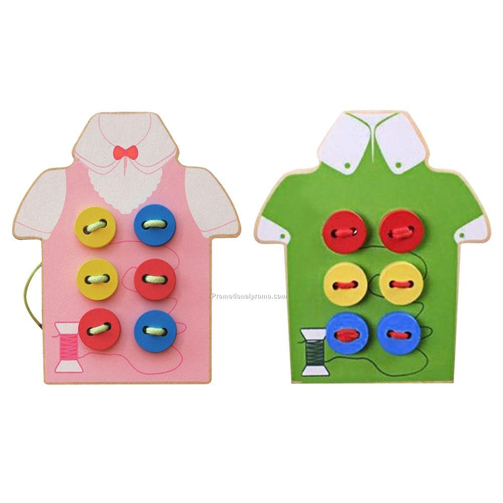Kids Educational Toys Children Beads Lacing Board Wooden Toys