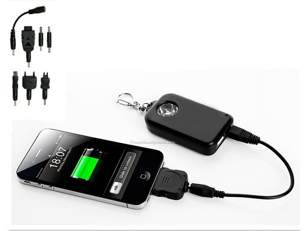 Emergency Mobile Phone Charger with LED light