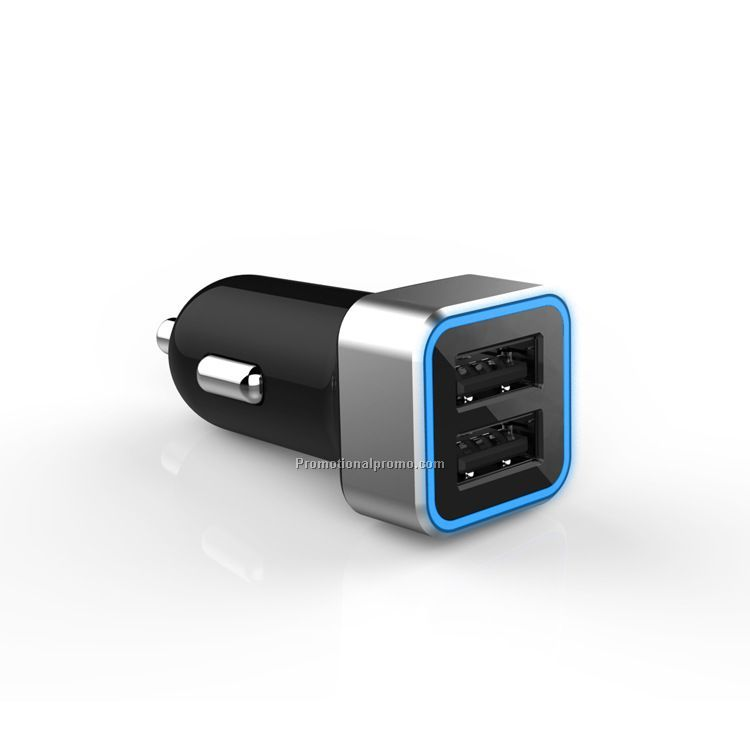 New arrival hig-end car charger, dual usb car charger, OEM 2.1A 3.1A 4.8A