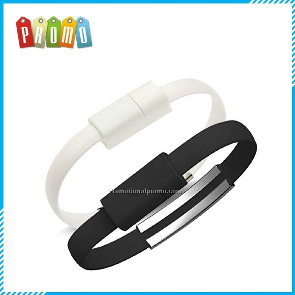 Flat Bracelet Micro USB Charger Charging Sync Data Cable for iphone 5/5s/6s