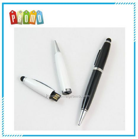Wholesale metal u disk pen touch pen stylus USB flash drive u disk pen