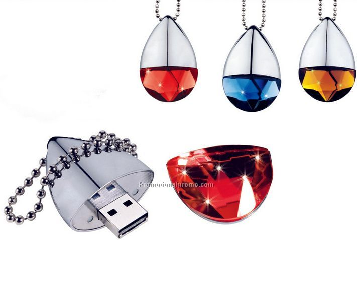 Custom Logo Jewelry Shape USB Flash Drive 4GB