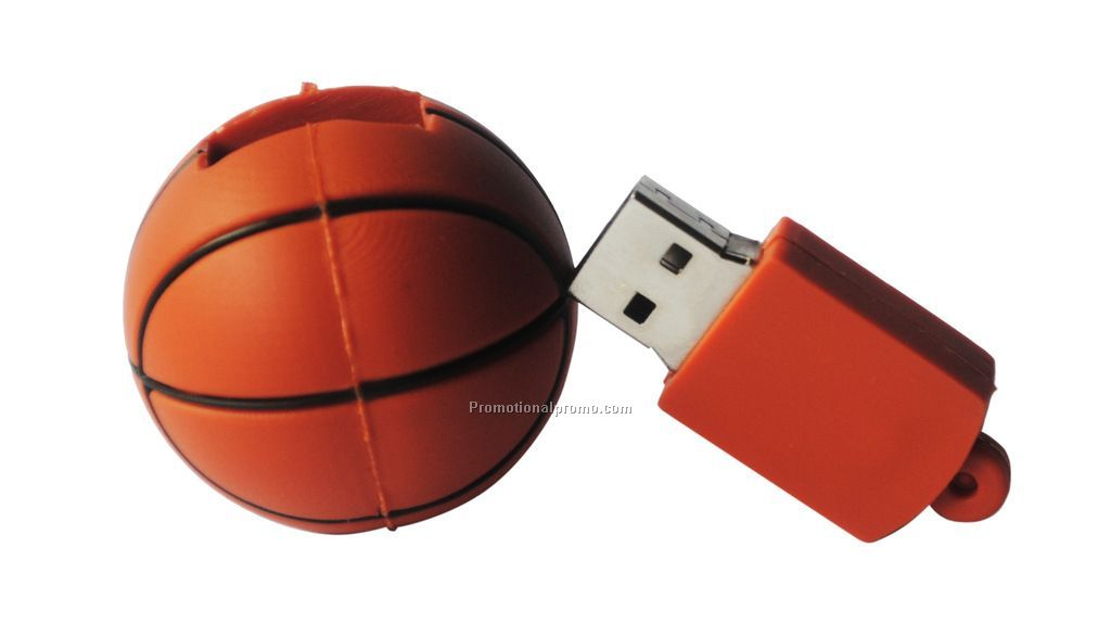 USB memory stick in baseket ball shape