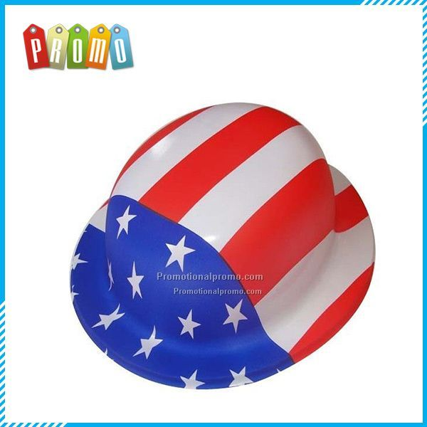 USA Flag Printed Round Hats