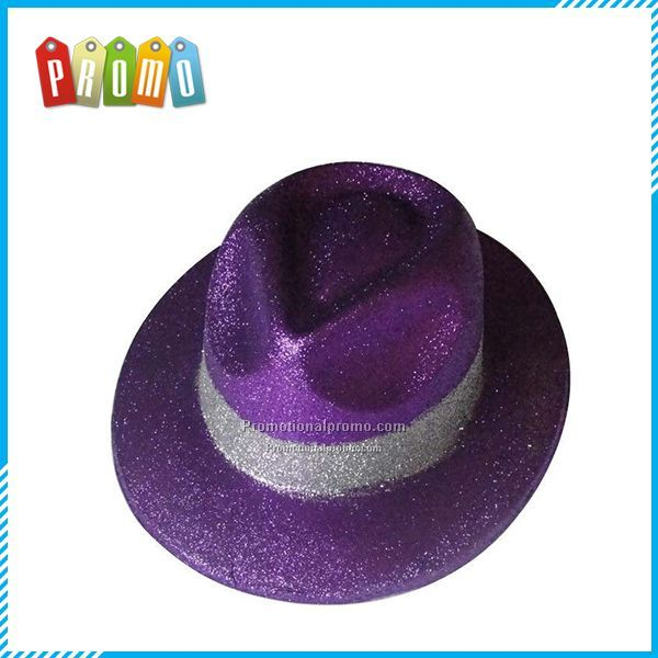 Gentry Purple Glitter Hats